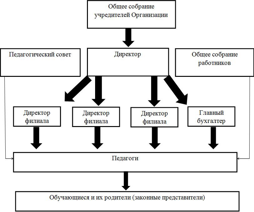 схема структуры управления РАДОСТЬ